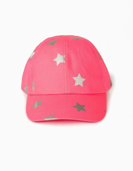 Cap for Girls 'Stars', Bright Pink