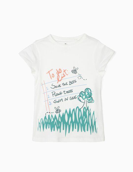 Camiseta para Niña 'To Do List', Blanca