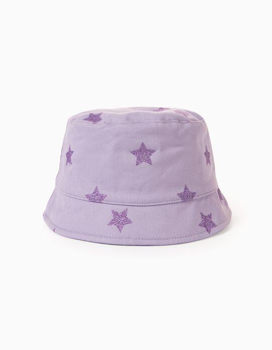Hat for Girls 'Stars', Purple