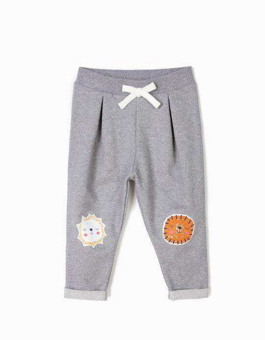 Pantalón de Chándal para Bebé Niña 'Animals', Gris