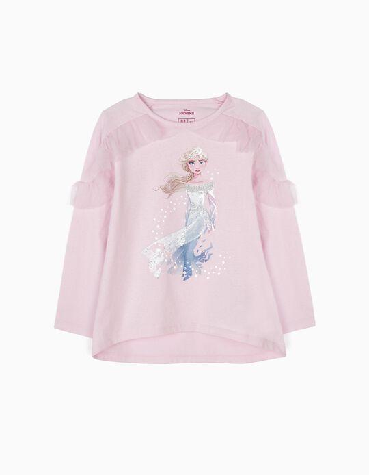 Camiseta de Manga Larga Elsa Frozen II Rosa