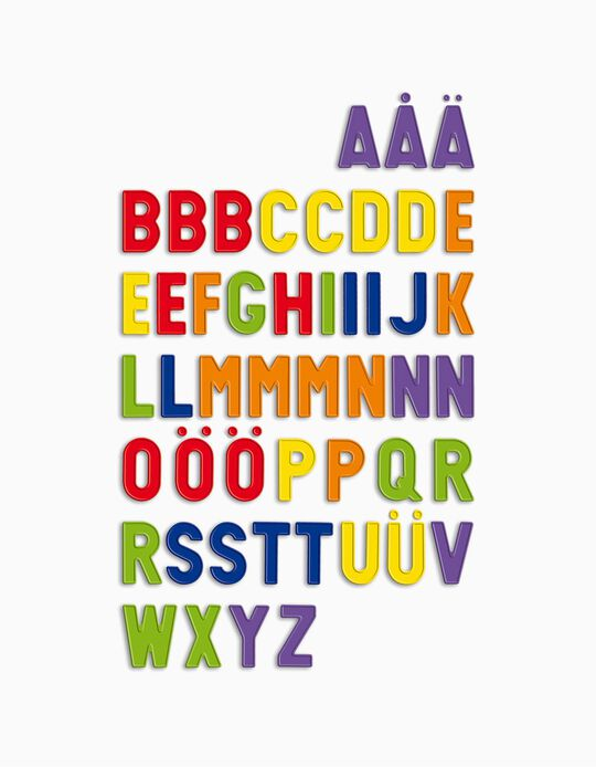 48-Piece Magnetic Capital Letters by Quercetti