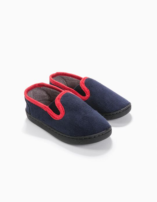 Zapatillas de Casa Azules con Elásticos