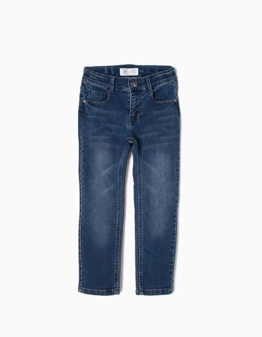 Pantalón Vaquero Slim Fit para Niño, Azul Oscuro