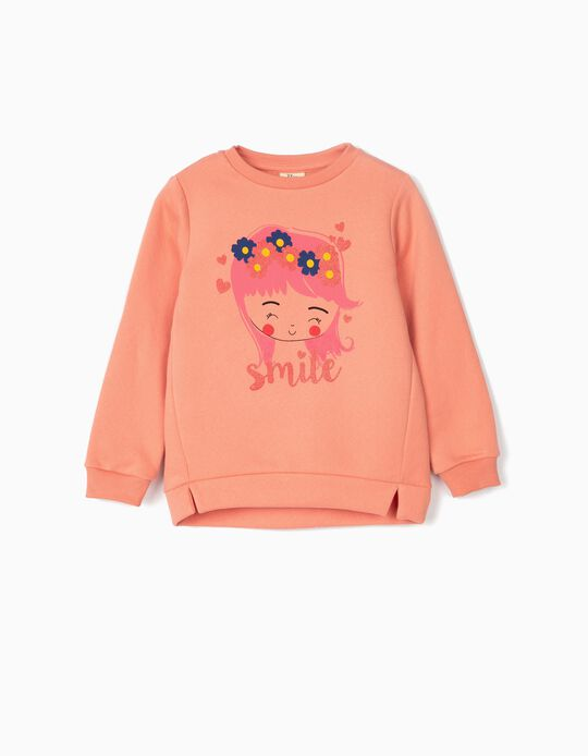 Sweatshirt para Menina 'Smile', Rosa