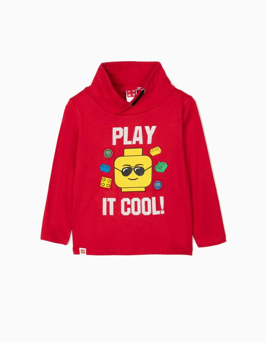 Camiseta de Manga Larga para Niño 'Lego', Rojo