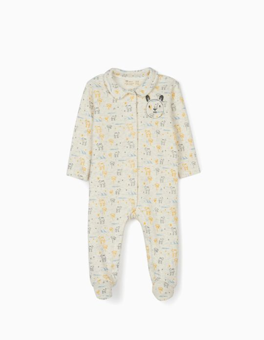 Sleepsuit for Newborn Baby Boys 'Camels', Beige