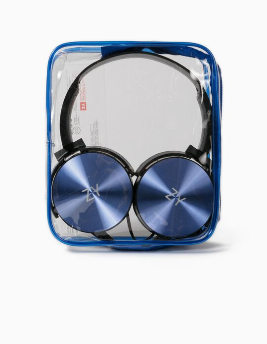 Headphones for Kids, Blue/Black