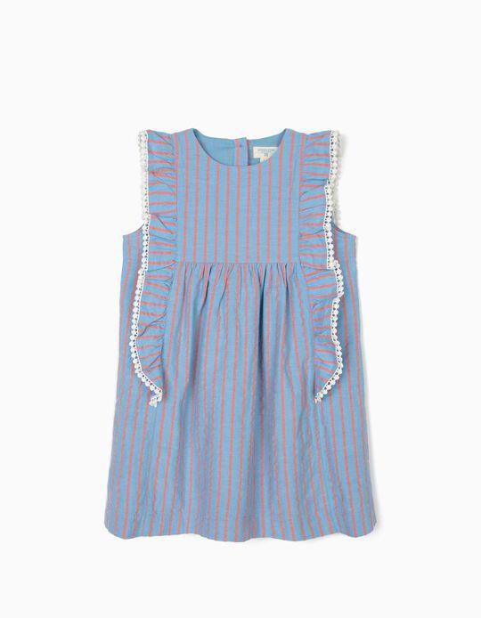 Vestido para Niña 'B&S' Rayas, Azul