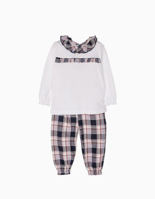 Pijama Bebé Niña Ajedrez B&S