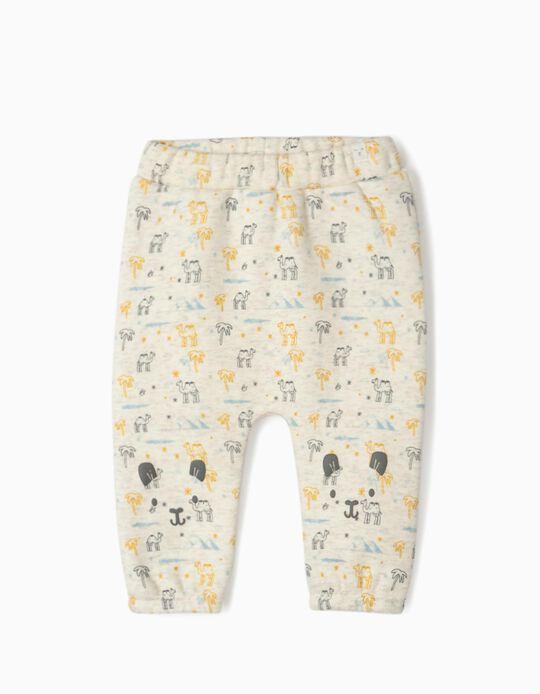 Pantalon de sport nouveau-né 'Camels', beige