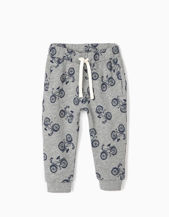 Joggers for Baby Boys 'Bicycle', Grey