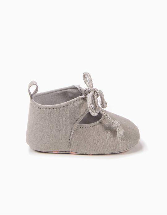 Sapatos Pre-Walker Prateados