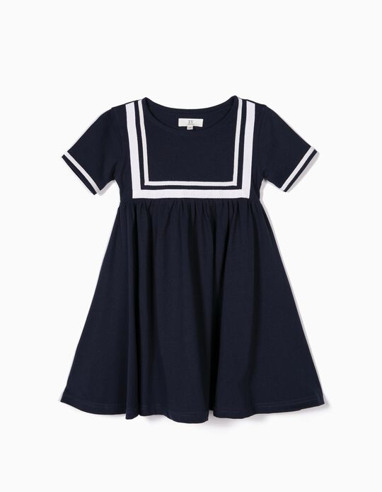 Vestido para Niña 'Sailor', Azul Oscuro