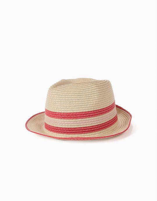 Sombrero de Paja Rosa