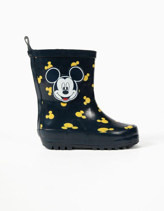 Galochas de Borracha para Bebé Menino 'Mickey', Azul Escuro