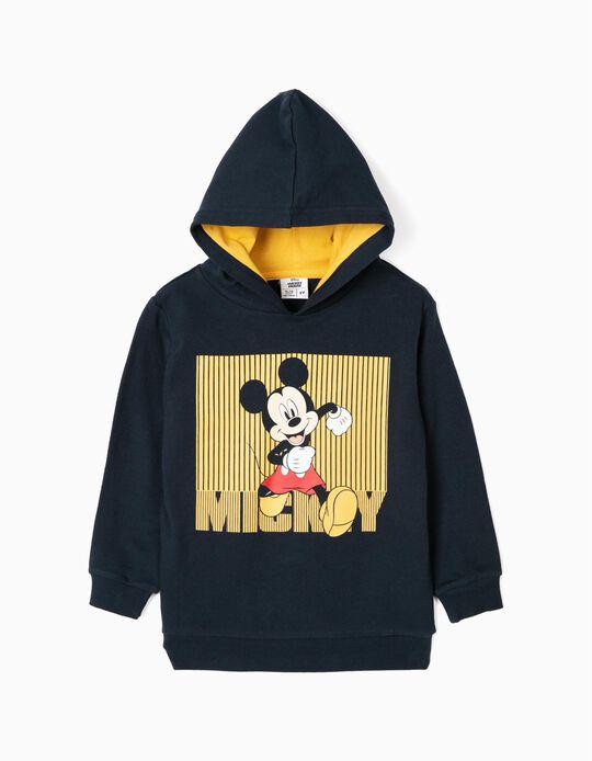 Sweat-Shirt Garçon 'Mickey', Bleu Foncé/Jaune