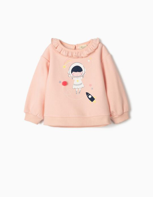 Sweatshirt for Baby Girls 'Astronaut Girl', Pink