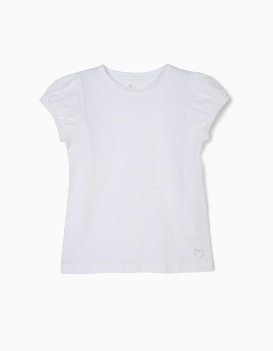 T-shirt for Girls, White