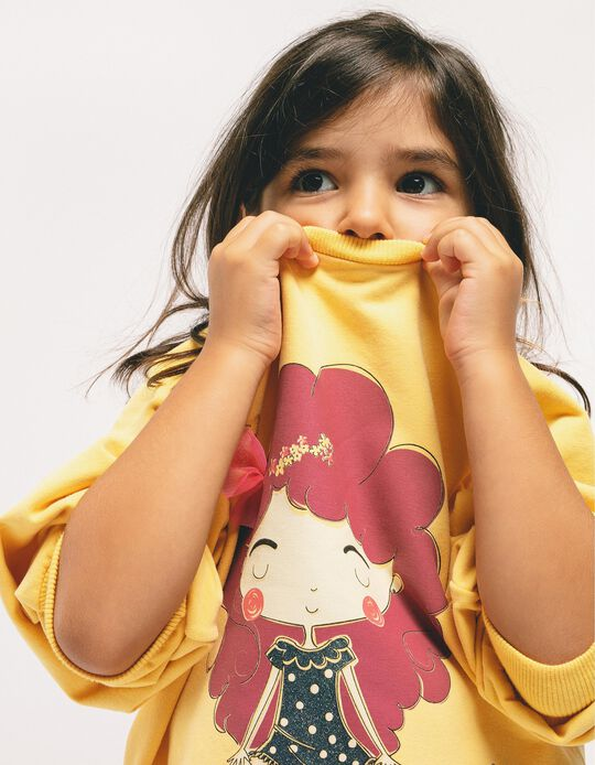 Sudadera para Niña 'Life is Beautiful', Amarillo