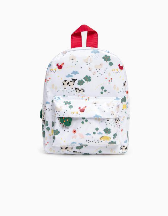 Waterproof Backpack for Children 'Farm', White