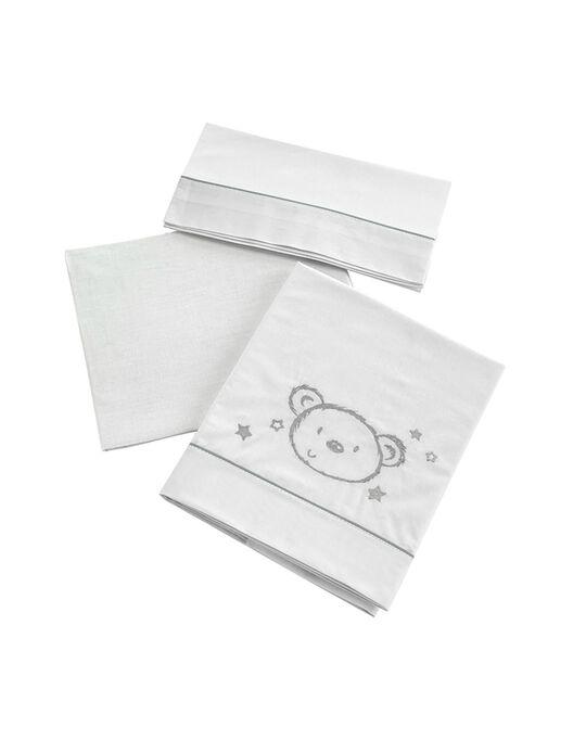Lençóis de Cama 120x60cm Sweet Bear Micuna 3 Peças