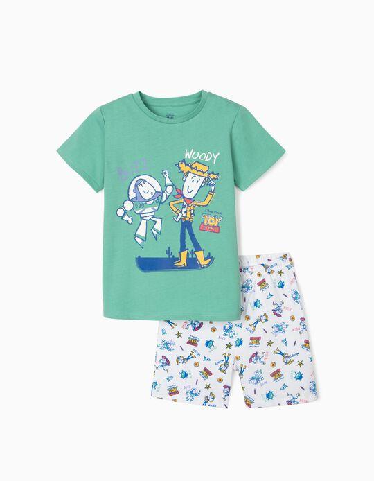 Pijama para Menino 'Toy Story', Verde/Branco