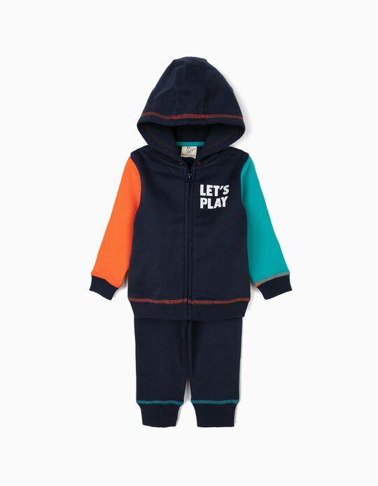 Chándal para Bebé Niño 'Let's Play', Azul Oscuro