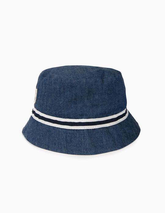 Sombrero para Niño con Banda a Contraste, Azul
