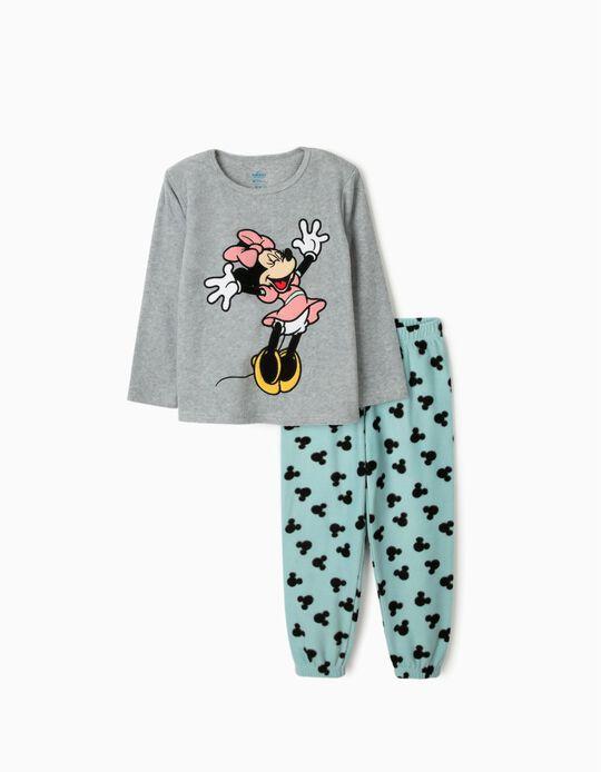 Pijama Polar para Menina 'Minnie', Cinza/Azul