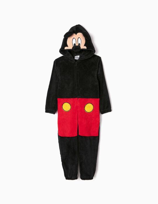 Pijama-Macacão para Menino 'Mickey', Preto