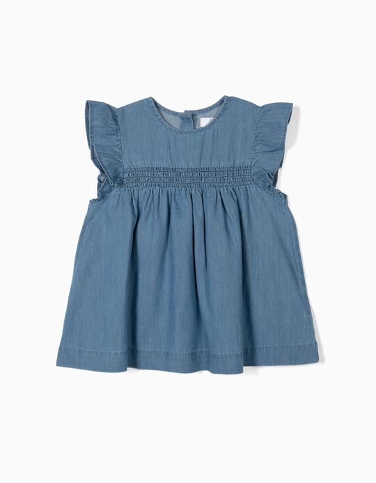 Denim Shirt for Girls, Blue