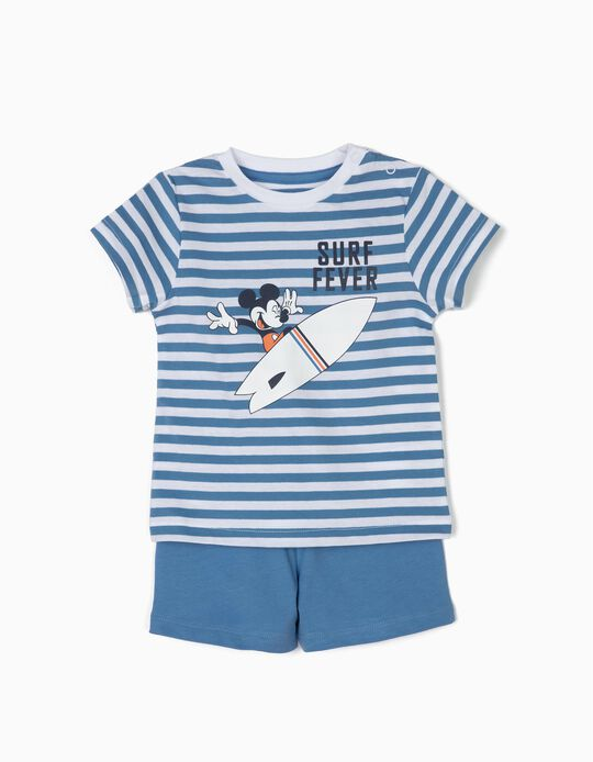 Pijama para Bebé Niño 'Mickey Surf Fever', Azul y Branco