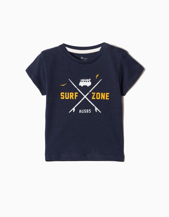 T-shirt para Bebé Menino 'Surf Zone', Azul Escuro