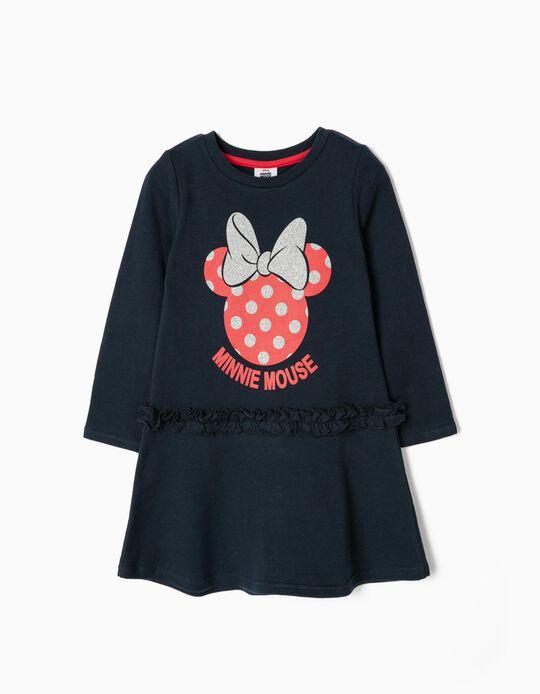 Vestido Jersey para Niña 'Minnie Mouse', Azul Oscuro