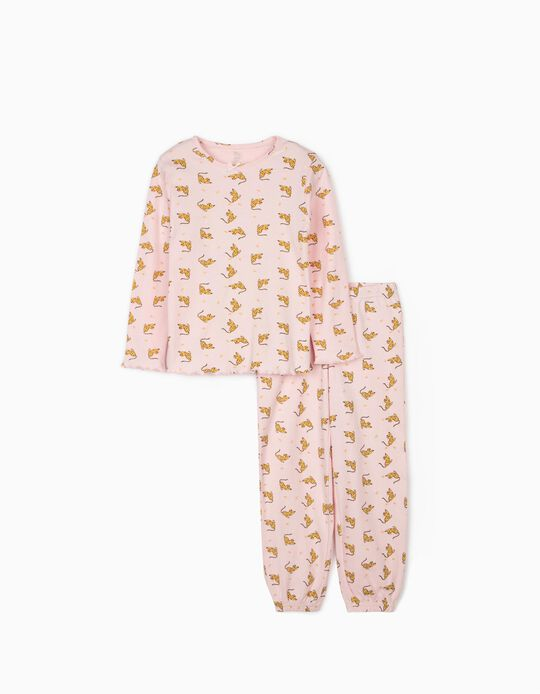 Pyjama fille 'Queen Leopard', rose