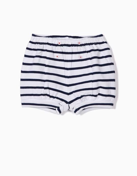 Short para Recién Nacido 'Little Sailor', Azul y Blanco