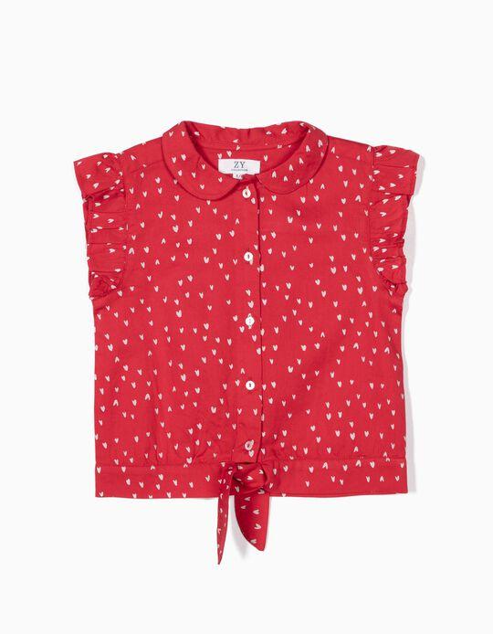 Blusa para Menina 'Hearts', Vermelho
