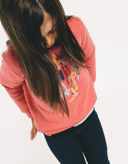 Sweatshirt para Menina 'Oh Happy Day', Rosa