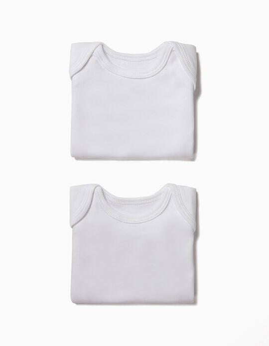 2 Camisolas Interiores para Bebé, Branco