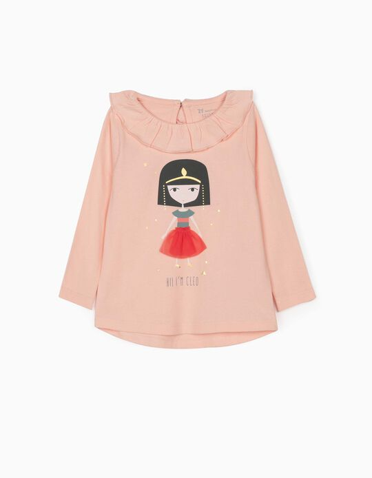 Long Sleeve Top for Baby Girls, 'Cleo', Pink