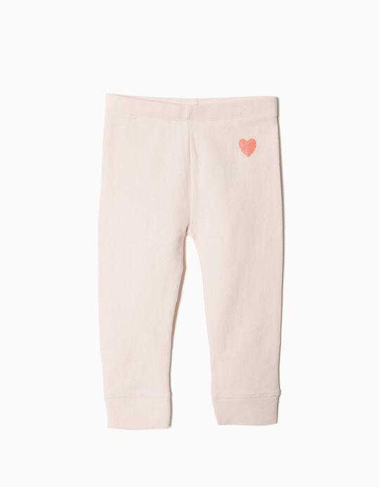 Calças Jersey Heart Rosa