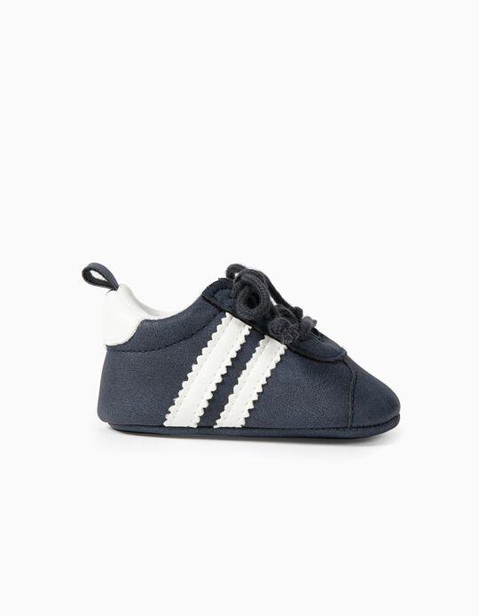 Zapatillas con Cordones para Recién Nacido, Azul Oscuro