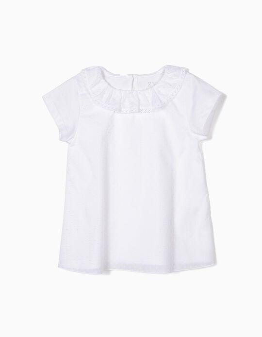 Camiseta Estructurada para Niña, Blanca
