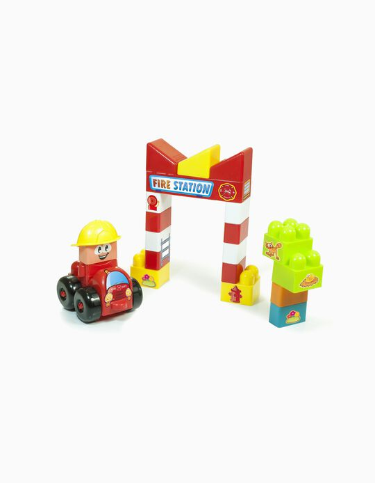 22-Piece Super Blocks - Fire Station 18M+ by Miniland