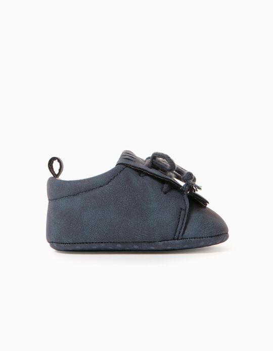 Zapatos para Recién Nacido, Azul Oscuro