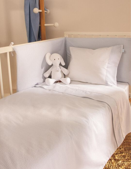 Bed Bumper Essential Blue Zy Baby