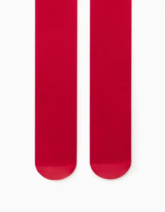 Collants Lisos para Menina, Vermelho