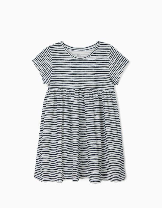 SLEEVE DRESS CLOUD D, WHITE7, 3/4