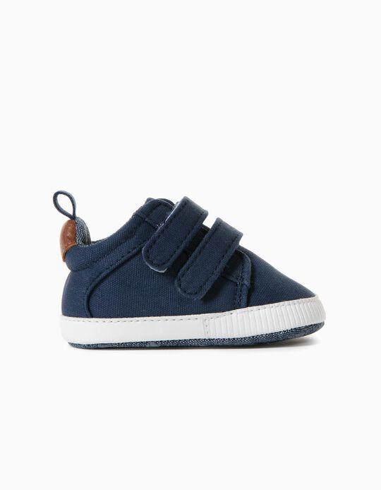 Zapatillas de Tejido para Recién Nacido, Azul Oscuro